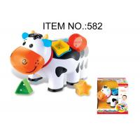 China Toddler B / O Cow W / Shape Sorter Blocks Infant Baby Toys Educational 5 Pcs Playset on sale