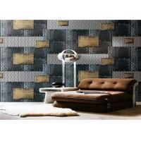 Non - Pasted Retro PVC Waterproof Wallpaper , 3d Wallpaper For Home Wall Manufactures