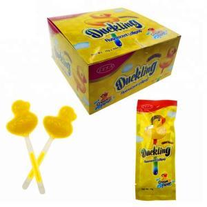 OEM Healthy Lollipops Duck Shape Halal Fluorescent Stick Light Up Candy Manufactures