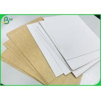 Buy cheap 325 Gram Single White Coated Kraft Paper Board For Disposable food takeaway box from wholesalers