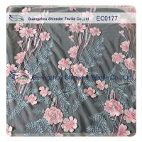 High Fashion Floral Embroidered Polyester Lace Fabric For Hot Summer Clothing Manufactures