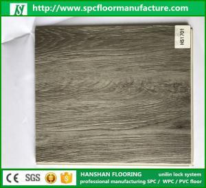 China EIR Handscraped 100% Virgin Material PVC Vinyl Interlock Flooring Tiles with wood design on sale