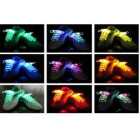 Eco - friendly Nylon LED Light Shoelaces In Purple , Green / Light Up Shoe Strings Manufactures