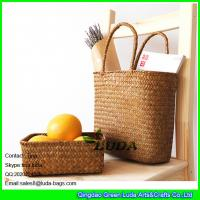 LUDA seagrass straw stroge box and natural straw beach bags for 2016 summer Manufactures