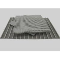 Flat Weld Johnson Wire Screen Panel, Wedge Wire Wrapped V Slot Screen Plate Manufactures