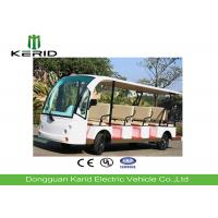 14 Person 4 Wheels Electric Sightseeing Bus Electric Tourist Car with Vacuum Tire Manufactures