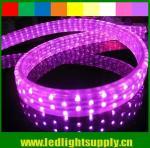 waterproof DIP 144leds/m 5 wires flat led rope light 110v/220v Manufactures