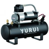 Black 1.5 Gallon Air Compressor For Cars , Heavy Duty Air Compressor 12v Manufactures