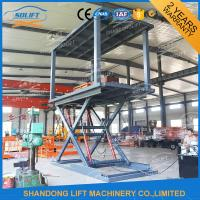 Red Grey Yellow Hydraulic Double Deck Car Parking System 5.5m X 2.6m Manufactures