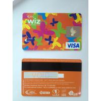 Prepaid custom visa smart debit card in butterfly design standard size Manufactures