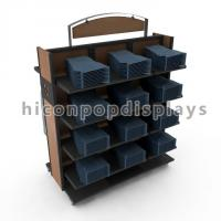 Movable Retail Clothing Racks With Casters For Jeans And Shirts Manufactures