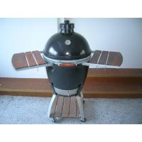 Quality Oval Ceramic Big Green Egg Oven / Smoker With Stainless Steel net , Adjustable for sale