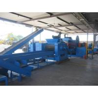 Horizontal Car Tire Rubber Cutter Machine , Rubber Powder Making Machine Manufactures