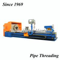 Stable Pipe Threading Lathe , High Speed Precision Lathe Turning Oil Pipes Manufactures