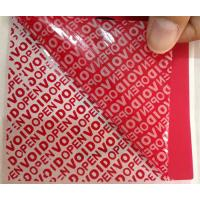 China PET Film Material Self Adhesive Security Labels Red Security Tape on sale