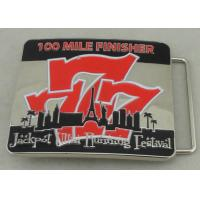 Jackpot Ultra Running Festival Custom Made Belt Buckles 100 Miles Finisher With Soft Enamel Manufactures