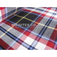 Competitive Price 180g/sm Twill Peached Plaid Cotton Yarn Dyed Fabric for T Shirt Manufactures