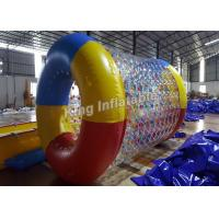 Quality Crazy Fun Airtight 0.8mm PVC / TPU Blow Up Water Rolling Toy For Swimming Pool for sale