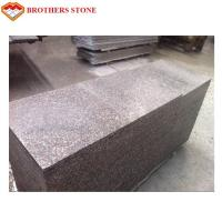 Custom Peach Flower Red Granite Tiles , G687 Granite Tiles For Bathroom Floor Manufactures