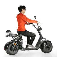 EcoRider 60v 12ah lithium battery 1500w brushless motor Harly Citycoco Electric Scooter with Fat Tire, EEC certificate Manufactures