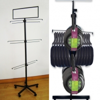 Multi Angle Hooks 3 Tire Pans Metal Floor Display Stands Manufactures