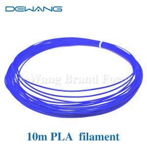 Blue Color 10m 1.75mm Blue PLA Filament for 3D printing pen Manufactures