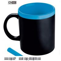 Certification SGS/CE Ceramic Chalk Mug with handle Leaving a message.by chalk cup china write news ceramic mug Manufactures