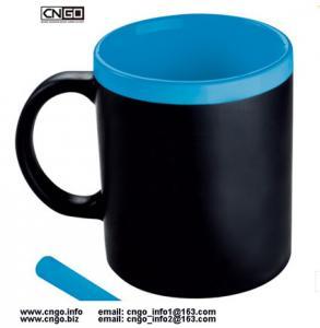China wholesale custom 11oz black Chalk mug Memo mug Write Message mug can erase ceramic mug cup on sale