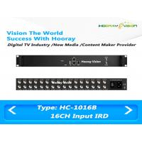Quality Multi Channels DVB-S2 Input Digital Satellite Receiver with 512 SPTS UDP Output for sale