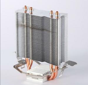 Brass 2PCS Aluminum Heat Pipe Heat Sink with Antioxidant Treatment Manufactures