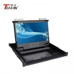 China 1920 X 1080 Rackmount LCD KVM Drawer AC100 - 240V Adjustable Slide 480*530*44mm on sale