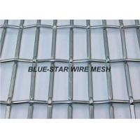 Rectangle / Slot Hole Crimped Wire Mesh Screen Stainless Steel For Facade Vibering Screen Manufactures