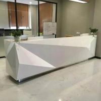 Fashionable Shape Reception Desk Display Case Luxury For High End Company Manufactures