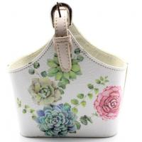 China Wholesale Storage Basket Leather Printed Cosmetic Storage Box Sundries Household Goods Storage Basket on sale