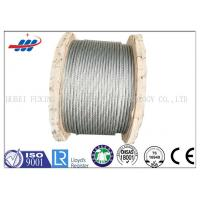 High Strength Galvanized Steel Wire Rope No Oil For Aircraft Cable 7x19 Manufactures