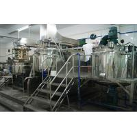 800L Tilting Homogenizing Vacuum Emulsifier Mixer Machine Adopts Two Speed On One Shaft Manufactures