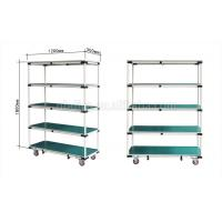 China Colorful Lean Pipe Mobile Trolley Cart Hand Pushed For Automobile Parts on sale