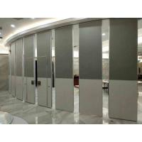 Nature Wood Veneer Finish  Acoustic Aluminum Frame100MM Thickness Movable Partition Wall Manufactures