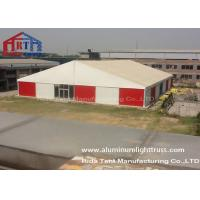 China Aluminum Frame Outdoor Warehouse Tents , Warehouse Storage Tent With Roof Cover on sale