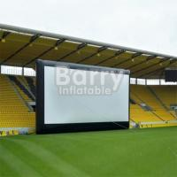 Commercial Black Inflatable Movie Projector Screen For Outdoor Event Manufactures
