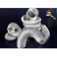 China Vent 50mm Flexible Aluminium Ducting Insulation High Flexible Silvery on sale