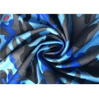 4 Ways Stretch Weft Knitted Fabric Polyester Lycra Spandex Fabric For Swimming Trunks Manufactures