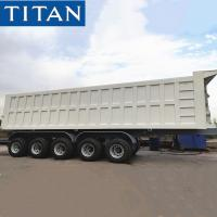 China TITAN 5 Axles Hydraulic Tipper Trailer for Sand/Stone/Coal/Mineral Transport on sale