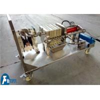 Quality Jack Operation Lab Scale Filter Press Equipment For Solid Liquid Separation for sale