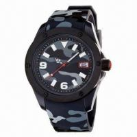 Army Sports Watch with Camouflage Color Plastic Case and Silicone Strap, New Arrive 2013 Manufactures