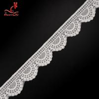 China 4.5cm Idth Stretch Trim Embroidery Lace Trim Water Soluble For Underwear on sale