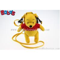 China 7.3 Stuffed Winner the Pooh Bear Toy Mobile Phone Bag with Red T-Shirt on sale