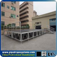 China Non-slip stage platform with aluminum adjustable legs for Church on sale