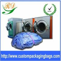 Blue / Yellow Biodegradable Plastic Drawstring Laundry Bags For Hotel / Hospital Manufactures