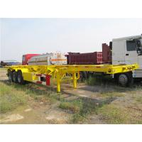 Buy cheap three axles trucks and trailers skeletal container chassis for sale from wholesalers